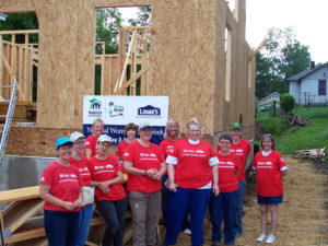 Local women answer challenge from Habitat for Humanity and Lowe's.
