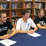 (L-R) Scott Stillwell, Thomas Kuhlman and Nick Ferguson are college-bound.