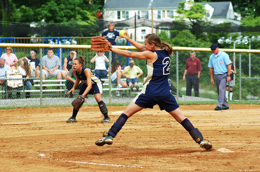 Hidden Valley pitcher Kelsey Crotty went the distance for the Titans in a 2-1 loss to Abingdon in extra innings in regional softball.