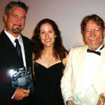 Tom Field (left) and Dan Smith, with Arts Council executive director Laura Rawlings, were named Literary Artists of the Year for their new business magazine, Valley Business Front.