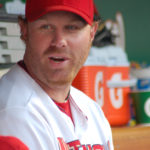 Nationals slugger Adam Dunn is happy last Thursday as the Nats spanked the Red Sox 9-3.