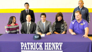 Jonathan Gomez (seated, center)-St. Peters University- Swimming