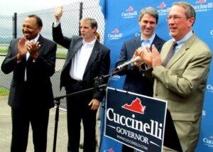 Congressman Bob Goodlatte introduces the Republican ticket.