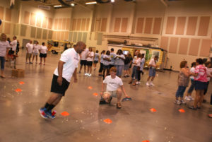 Teams take part in fun and games to kickoff the annual campaign.