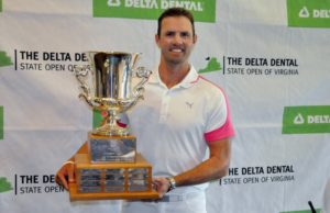 Jay Woodson captured his third straight State Open Saturday afternoon at Ballyhack Golf Club with a 3-round 208 total.
