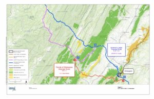 Wintergreen's alternative route is 10.5 miles shorter than Dominion's proposal.