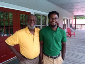 Peter Lewis and son John who is taking over as Director at Apple Ridge.